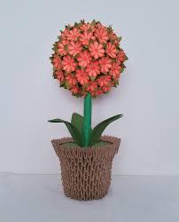 Simple Origami Vase - origami easy d origami flower vase ot origami flower vase