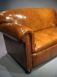 Antique Leather Sofas Antique Leather Edwardian Drop Arm Sofa Loveday Antiques