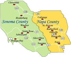 california map napa vineyards and wineries for sale information napa and sonoma