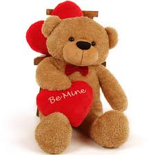 teddy valentines day teddy 38in s day be mine heart fur