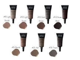 makeup forever s aqua brow highly pigmented gel formula is waterproof fills defines and