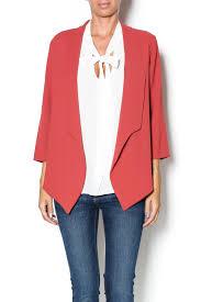 le lis le lis rust drape blazer from iowa city by revival shoptiques