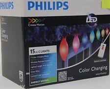philips led 15 ct color changing lights w remote ebay