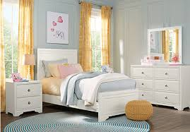 jr white 5 pc panel bedroom