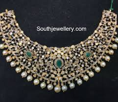 diamonds gold necklace images Flat diamonds latest jewelry designs jewellery designs jpg
