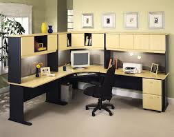 Big Corner Desk Likable Bright Wooden Big Desk Idea With Dazzling Black Accent