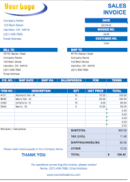 Billing Template Excel Sales Invoice Template Excel Free Invoice Sle Template
