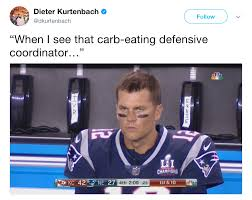 Brady Meme - carb eating defensive coordinator angry tom brady know your meme