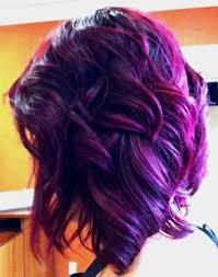 colorful short hair styles short hairstyles and cuts deep purple hue for hair color