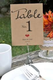 wedding table numbers rustic wedding table numbers personalized wedding reception