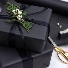 black gift wrap black white christmas gift wrap wrap a gift