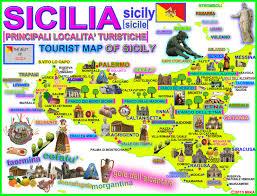 Sicily Italy Map Sicily Road Map Sicily Italy U2022 Mappery Sicily Pinterest