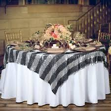 Wedding Table Clothes Black Table Cloths 54 Black White And Gold Wedding Ideas