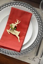 Christmas Deer Table Decorations by 25 Best Christmas Place Cards Ideas On Pinterest Christmas