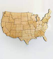 United States Map With Interstates by Interstate Highways Magnetic Wood Usa Puzzle Art Art Pieces