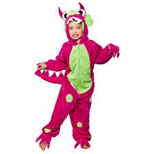 Pink Polka Dot Monster Fancy Dress Kids Halloween Girls Childs
