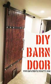 How To Make A Sliding Interior Barn Door Barn Door With Cat Door Diy Eclectic Industrial Farmhouse