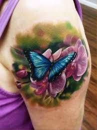 Flower Butterfly Tattoos 01 Best 3d Butterfly And Flower Tattoos Insigniatattoo Com