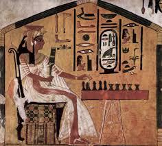 queen nefertari playing senet ancient board games pinterest ancient history