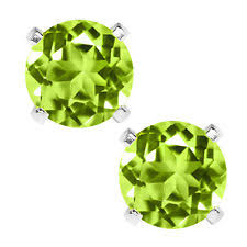 peridot stud earrings peridot stud sterling silver earrings ebay