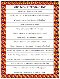 kids movie trivia free printable movie trivia trivia and free