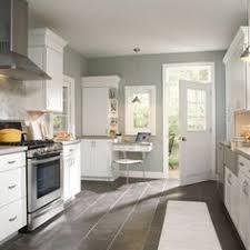 Grey Kitchen Floor Ideas Impressive Design Ideas White Shaker Kitchen Cabinets Grey Floor