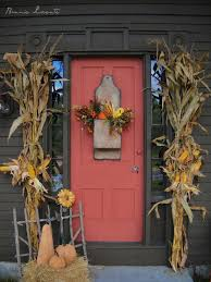 beautiful fall front door decorations ideas fall front door