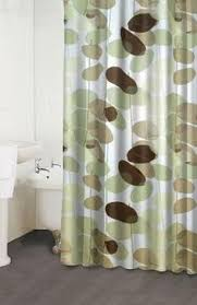 Green And Brown Shower Curtains Zen Floral Sage Green Brown Tan Ivory Quality Luxury Fabric Shower