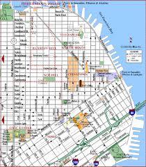 san francisco map downtown road map of san francisco center san francisco california