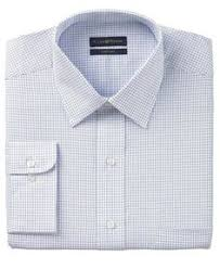 club room dress shirt blue hairline stripe long sleeve shirt