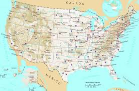 Map Of Canada And United States by Map Of The United States