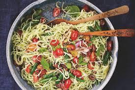 mediterranean rice noodles recipe epicurious com