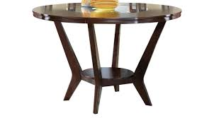 highland park ebony round counter height dining table contemporary