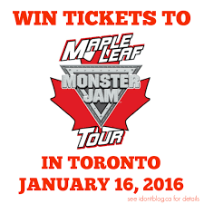 monster truck show january 2015 win tickets to monster jam in toronto i don u0027t blog but if i did