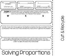 solving proportions word problems foldable wku by miranda colwell