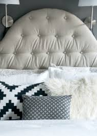 Tufted Linen Headboard by Linen Headboard King Foter