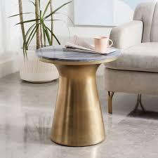 white pedestal side table elegant marble topped pedestal side table gray marbleantique brass
