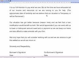 hardship letter for mortgage modification sample business letter