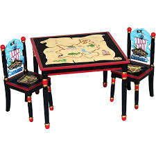 guidecraft childrens table and chairs guidecraft pirate kids childrens table chairs set walmart com