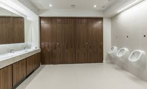 Hpl Laminate Flooring Alto Full Height Flush Fascia Cubicles With Doors And Pilasters