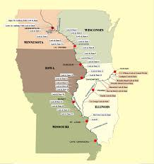 Chicago Il Map Mississippi River Illinois Map