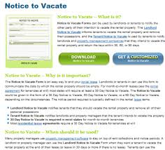 notice to vacate form free download and software reviews cnet