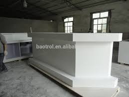 Marble Reception Desk Bending Material Cultured Marble Solid Surface Curved Reception