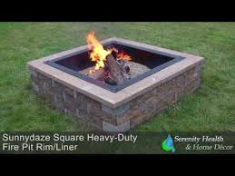 Fire Pit Liner by Sunnydaze Square Heavy Duty Fire Pit Rim Liner Youtube