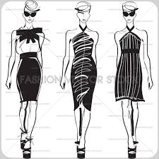 and vector sketches fashion