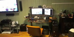Computer Desk Setup Desk Cool Computer Setups With Gaming Station Computer Desk