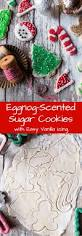 eggnog scented sugar cookies with easy vanilla icing half baked