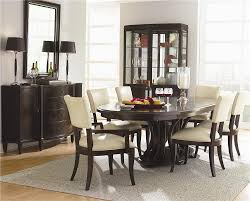Modern Mirrors For Dining Room by Furniture Hondrum Oval Dining Table Dark Wood With Modern Vanity
