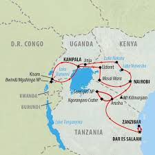 Tanzania Map The Best Time To Visit Tanzania For Safari On The Go Tours