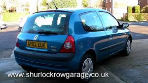 renault clio 2002 renault clio 1 2 expression automatic for sale youtube